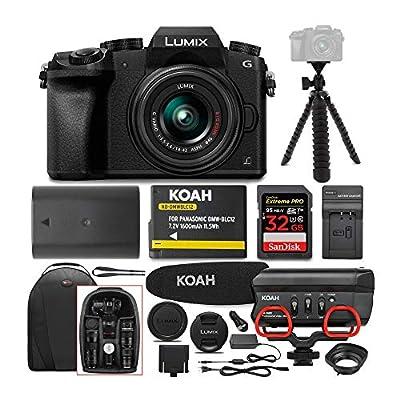 Panasonic LUMIX G7 Digital Camera with 14-42mm f/3.5-5.6 Lens & Rode Microphone Accessory Bundle from Panasonic