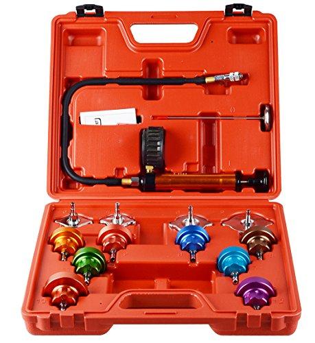 14-TLG Kühlsystemtester Kühlerabdrückgerät Kühler Druck Prüfung Abdrückgerät Kühlsystem Tester abdrücken Prüfgerät Wassertank Lecksucher Werkzeug