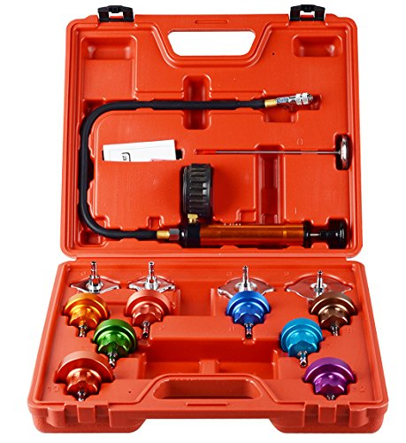 DAYUAN 14 pcs Automotive Cooling System Radiator Pressure Tester Kit