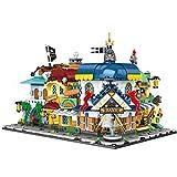 Rawikan Edificio Módulo Creación Experto Cuatro en Uno Casa Pirata Street View Edificio Bloque Ladrillo Construcción Juguetes para niños (Compatible con Lego)