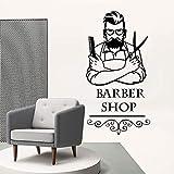 yaonuli Barber Shop Decoration Sticker Impermeable Decoración del hogar Vinyl Sticker Room Decoración del hogar 28x54cm
