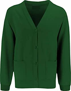 Uniform Fleece Ladies Cardigan Bottle Green Adult Large