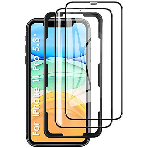 KuGi. Panzerglasfolie Displayschutzfolie Ersatz für iPhone 11 Pro, Displayschutzfolie Passt Ersatz für iPhone 11 Pro/iPhone XS/iPhone X 5.8