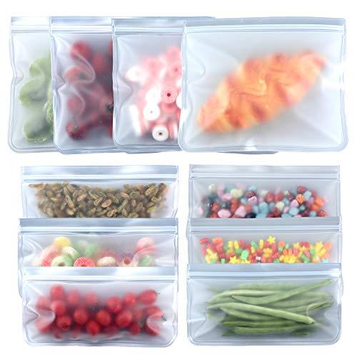 Reusable Food Storage Bags, HomeHealthy Food Storage Freezer Bags, 10 Pack...