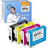 4 MyCartridge PHOEVER 603XL Cartucho Compatible con Epson 603 603XL para Expression Home XP-2100 XP-2105 XP-3100 XP-3105 XP-4100 XP-4105 (Negro / Cian / Magenta / Amarillo)