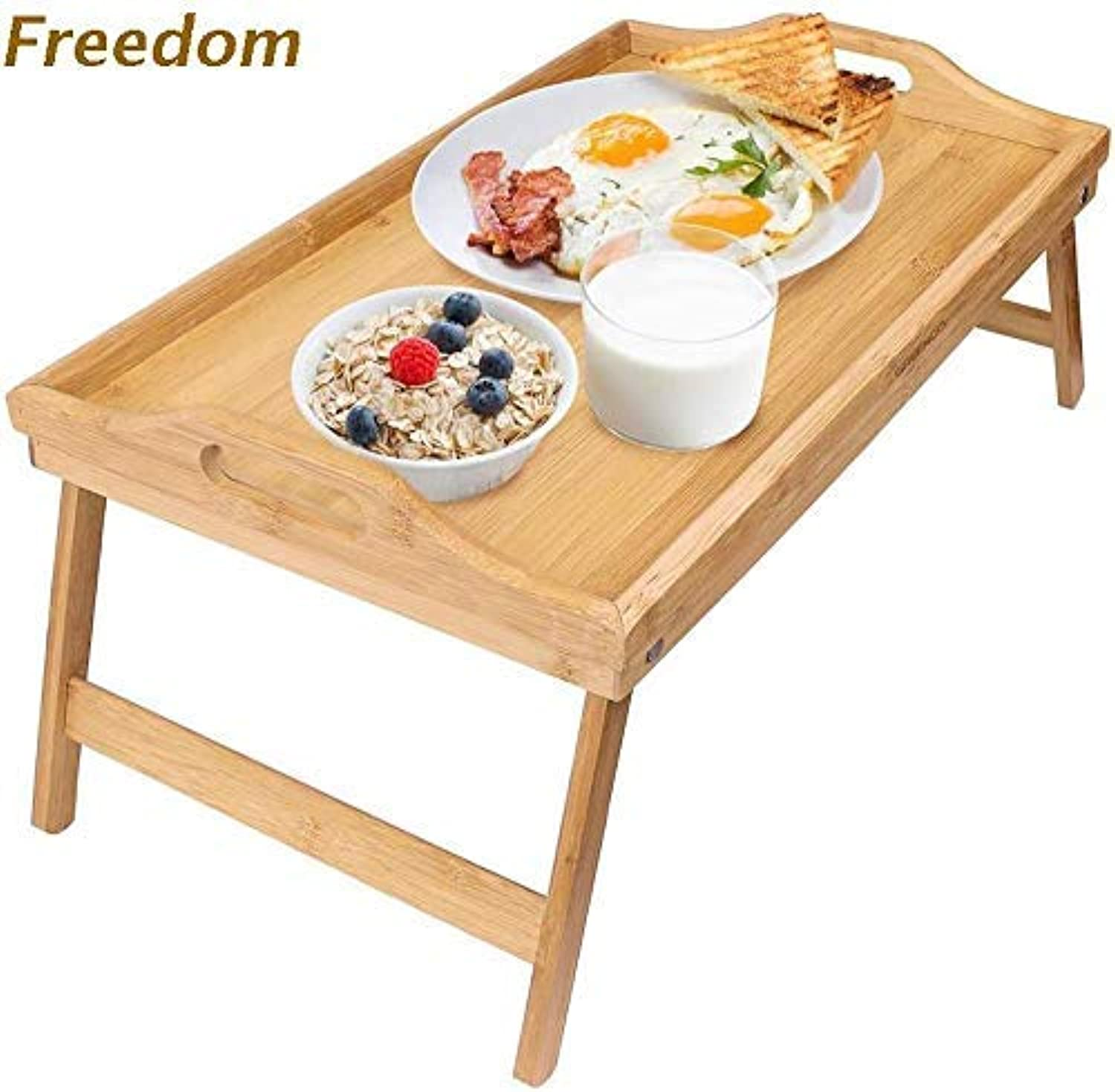 Folding Table, Dining Table, Bed, Moon Table, Bamboo Notebook Computer Table, Movable Solid Wood Thickened Small Table
