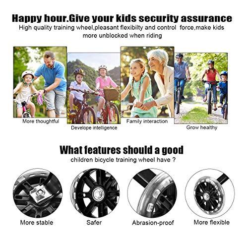 Universal-Stützräder,Hilfsräder für kinder,Stützräder für kinderfahrrad Bike,Kinderfahrrad Stützräder,Fahrrad Stützräder,Stützräder für Kinderfahrrad,Kinder Stützräder,Stützräder 1 Paar - 6