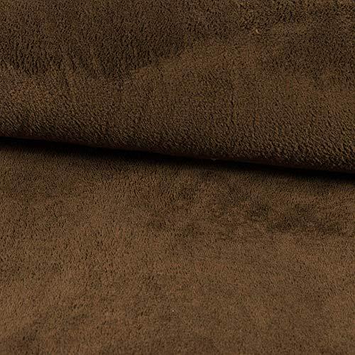 Stoffe Werning Wellness - Forro polar monocolor marrón