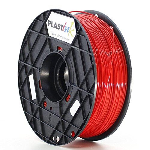 Plastink PLA175RD1 Filamento per Stampante 3D in PLA, Diametro 1.75 mm, Rosso