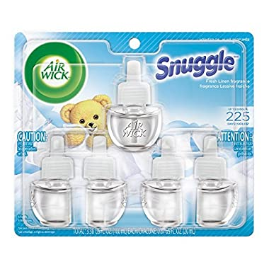 Air Wick Scented Oil 5 Refills, Snuggle Fresh Linen, (5X0.67oz), Air Freshener