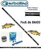 Garbolino Set Canne à pêche Carpe/Carpodrôme/Esturgeon Partner 8M00