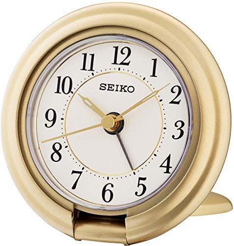 Seiko Reisewecker gold Kunststoff QHT014G