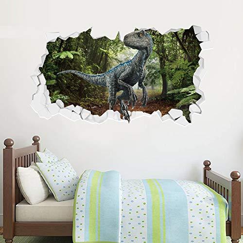 Beautiful Game Jurassic World: Blue Broken Wandtattoo Dinosaurier, Vinyl, blau, 90 cm