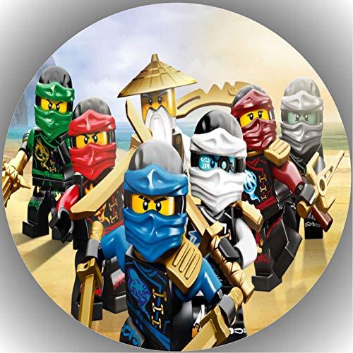 FONDANT Tortenaufleger Tortenfoto Foto Bild kompatibel mit Ninjago rund ca. 20 cm AMA 31