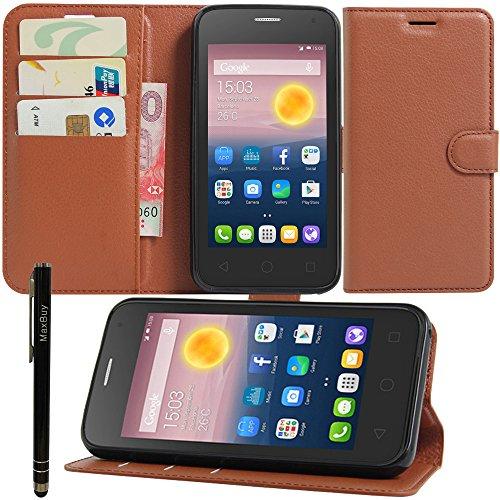 Alcatel One Touch Pixi 412,7cm case, su misura protettiva in pelle sintetica a portafoglio in pelle custodia cover con pennino per Alcatel One Touch Pixi 412,7cm
