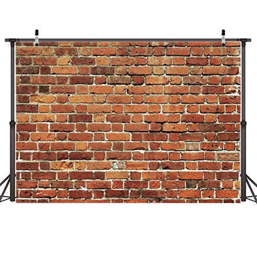 AIIKES 8x6FT Red Brick Wall Photography Backdrop Thin Vinyl Photo Backdrops Background Baby Birthday Party Wedding Graduation Home Decoration Photo Booth Studio Prop Banner 11-506