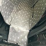 YCXM Transportines para Perros Impermeable Trasera Trasera Mascota Perro Asiento de Coche Alfombrillas Protector de Hamaca con cinturón de Seguridad -Gray_130x150x38cm