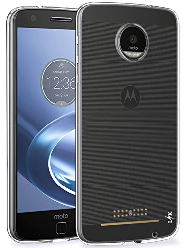 Moto Z Force Case, LK Ultra [Slim Thin] Scratch Resistant TPU Rubber Soft Skin Silicone Protective Case Cover for Moto Z Force Edition (Clear)