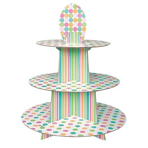 Unique Party 42363, Soporte para cupcakes reutilizable hecho de cartón