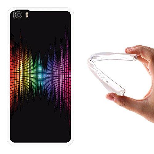 WoowCase Funda para Xiaomi Mi5, [Xiaomi Mi5 ] Silicona Gel Flexible Arco Iris Efecto Ecualizador, Carcasa Case TPU Silicona - Transparente