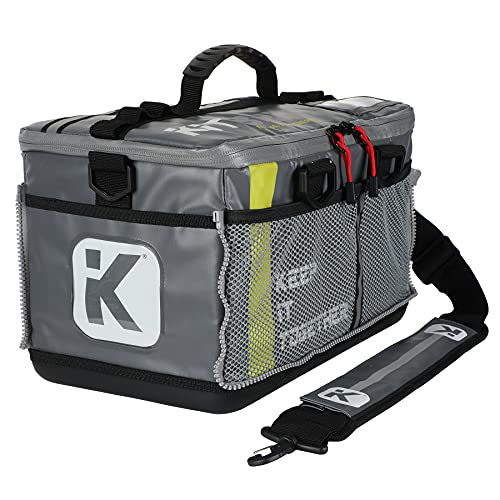 KITBRIX Sports Gear Kit Bag - Waterproof Bag for Swimming, Cycling, Running, Gym, Football, Soccer, Triathlon Transition, Obstacle Course Racing - Grey
