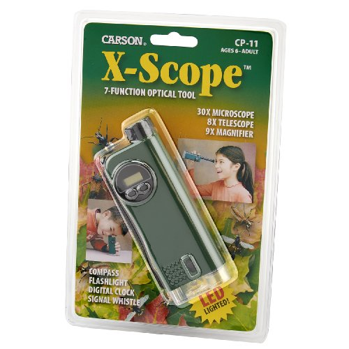 Carson X-Scope Kombination aus Mikroskop und Teleskop mit insgesamt 7 verschiedenen Funktionen