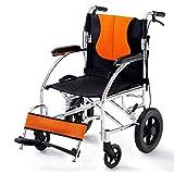 Plegable Ancianos Discapacitados Transporte en Silla de Ruedas Médica Cómodo Brazos Y Piernas Elevables para Descansar Silla de Ambulancia para Discapacitados de Lujo Neumático Resistente a Pinchazos