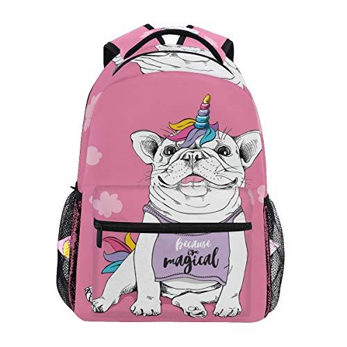 School Backpack Cute French Bulldog Teens Girls Boys Schoolbag Travel Bag 7-14 Age
