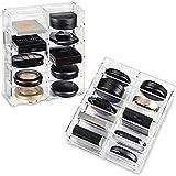 byAlegory Organizador compacto del maquillaje del acrílico diseñado para Compacts más grande | 10 Espacios