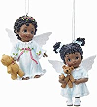 black angel christmas ornaments