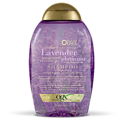 OGX Hydrate & Color Reviving + Lavender Luminescent Platinum Shampoo, 13 Ounce Bottle