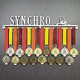 Synchro - Colgador de medallas Deportivas - Medallero de Pared Natación Sincronizada - Sport Medal Hanger - Display Rack (600 mm x 100 mm x 3 mm)
