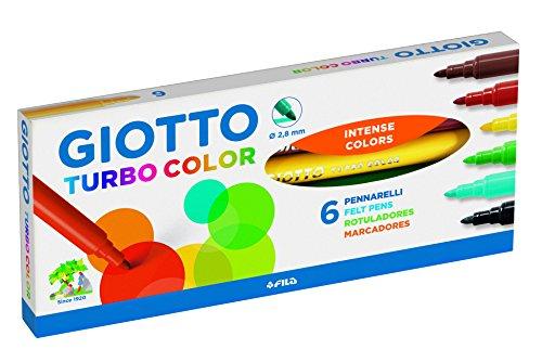 Giotto Astuccio, Pennarelli Turbo Color, 6 pezzi