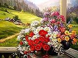 5D DIY diamante pintura planta flor punto de cruz diamante pintura mosaico hecho a mano rhinestone decoración del hogar set A1 30x40cm