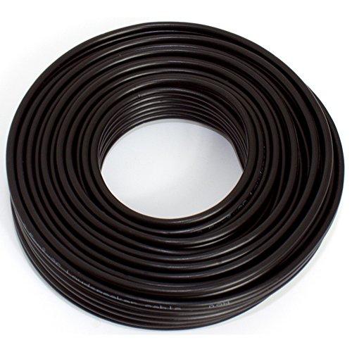 Lautsprecherkabel 2x2,50mm2 - 10m - schwarz - CCA - Audiokabel - Boxenkabel