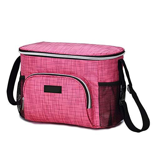 BaiJaC Bolso de Momia Multifuncional, Bolso de Cochecito de Aislamiento acumulable y de Aislamiento térmico de Revestimiento de Gran Capacidad para Cochecito, Bolsa de Cochecito (Color : Pink)