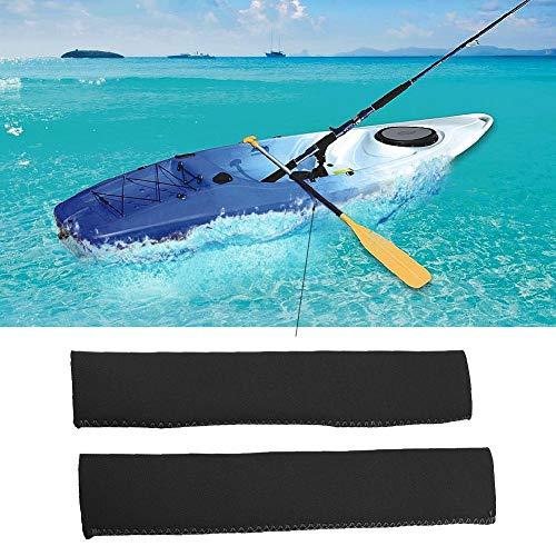 Dilwe Manopole per Paddle Kayak, 6 Colori 1 Paio Impugnature in Neoprene Morbide Antiscivolo per Paddle Efficienti (Nero)