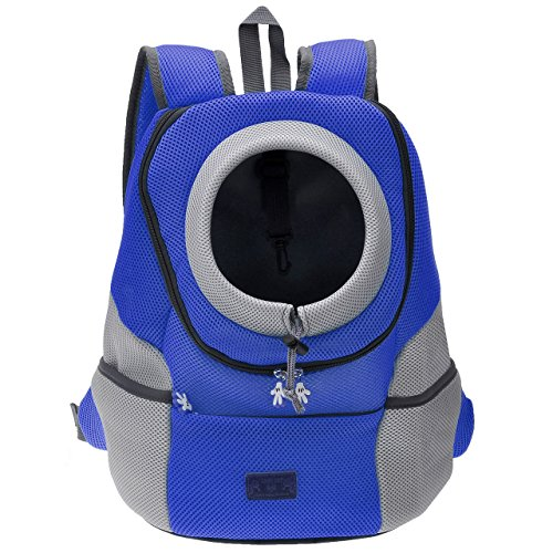 Mogoko Cat Dog Backpack Carrier, Puppy Pet Front Pack with Breathable Head Out Design and Double...