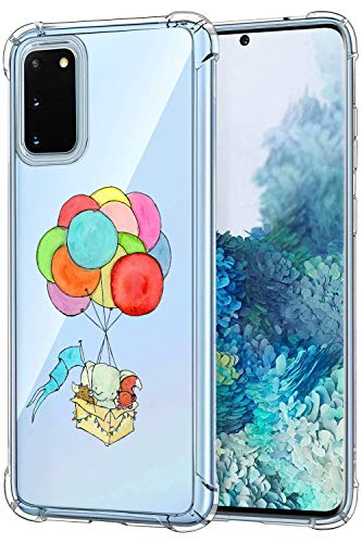 Oihxse Crystal Coque pour Samsung Galaxy Note 9 Transparent Silicone TPU Etui Air Cushion Coin avec Motif [Elephant Lapin] Housse Antichoc Protection Bumper Cover (A16)