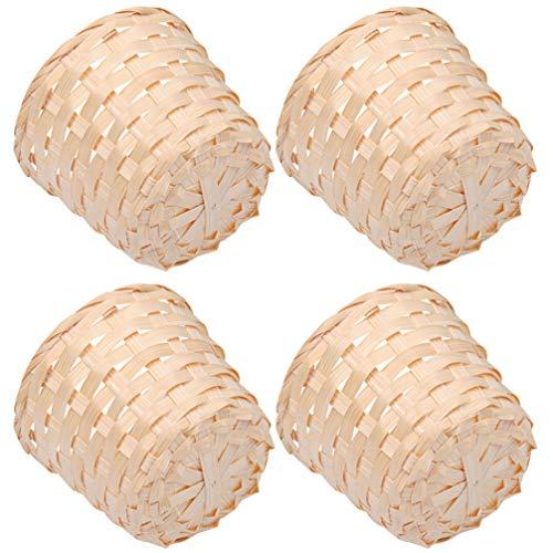Cestas Mimbre Decoracion Pequeñas cestas mimbre decoracion  Marca BESPORTBLE