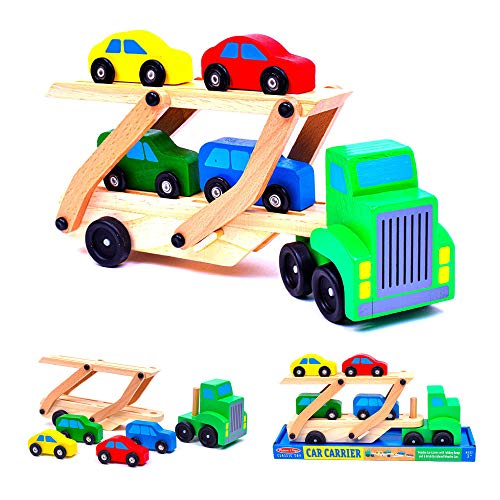 Melissa & Doug Car Carrier Truck & Cars...