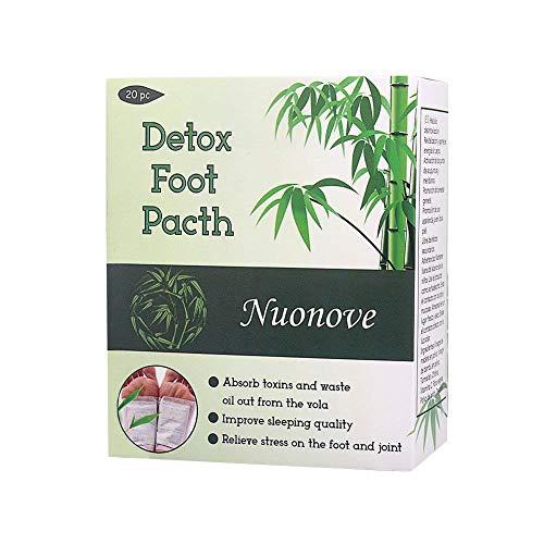 Detox Fußpflaster, Fusspflaster zur Entgiftung, Detox Vitalpflaster | Qualitativ hochwertig und gut verträglich, Bambus Pflaster Wellness- Detox-Pflaster zieht die Toxine Spa