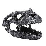 AMONIDA 【Venta del día de la Madre】 Dinosaurio de Calavera de Reptil, decoración de terrario Dinosaurio Calavera Paisaje Acuario Resina Dinosaurio, Resina para Acuario(Horned Dragon Skull)