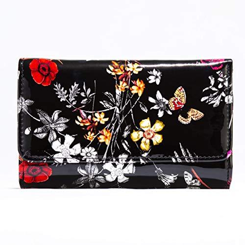 Bravo Handbags, Night Blossom Flower Print Medium Wallet