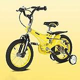 [page_title]-FJ-MC Unisex Kinderfahrrad Mädchen Jungen, 12', 14', 16' Kind Fahrrad mit Federung und Scheibenbremse, Stützräder für 2-11 Jahre,Yellow,16
