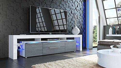 Vladon TV-Board Lowboard Lima Nova V2 | In Weiß / Avola-Anthrazit