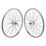 Wheel Master Front And Rear Bicycle Wheel Set 26 x 1.5 36H, Alloy, Bolt On, Silver