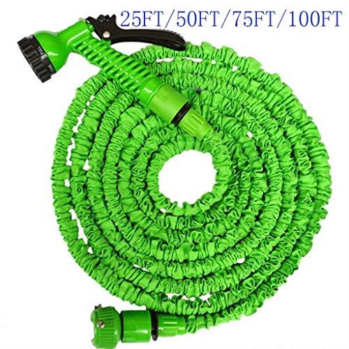DBWIN Manguera de jardín de 100 pies, con Pistola de pulverización de 7 Funciones, Manguera de riego expandible 3 Veces, Manguera mágica Flexible antifugas Ligera de fácil Almacenamiento (Verde) (