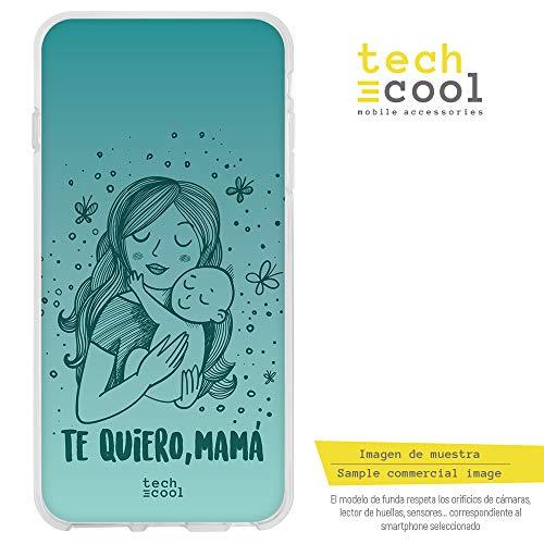 Funnytech® Funda Silicona para iPhone 5 / 5S / SE [Gel Silicona Flexible, Diseño Exclusivo] Dia de la Madre te Quiero Mama Version Verde