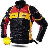 chaquetas de moto Chaqueta de cuero sintética de los hombres Motocicleta con cremallera Bolsillos Faux Motocicleta Chaqueta Guapo abrigo de prendas de vestir ( Color : Black , Size : L/Large )